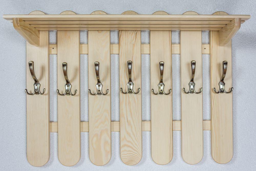 Garderobe Kiefer massiv Vollholz natur Junco 354 – Abmessungen: 60 x 80 x 29 cm H x B x T)