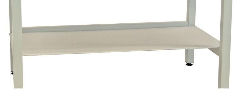 Ablageboden für Werkbänke - Farbe: Lichtgrau,  Tiefe: 600 mm,  Breite: 1750 mm,  Gewicht: 9 kg - Abverkauf: Nur solange Vorrat reicht!