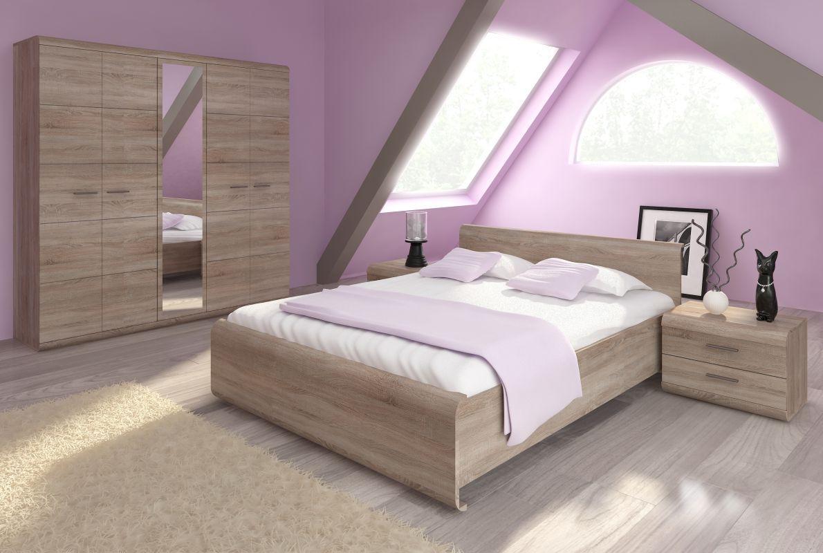 Schlafzimmer Komplett - Set E Gabes, 4-teilig, Farbe: Eiche Sonoma