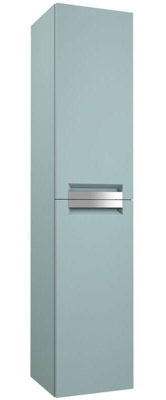 Badezimmer - Hochschrank Meerut 85, Farbe: Aquamarin – 160 x 35 x 36 cm (H x B x T)