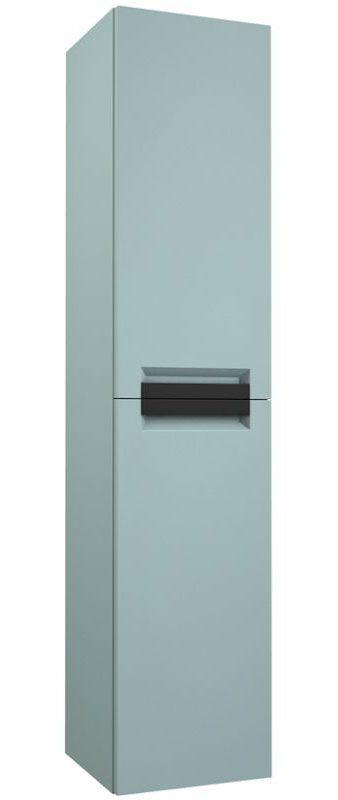 Badezimmer - Hochschrank Meerut 87, Farbe: Aquamarin – 160 x 35 x 36 cm (H x B x T)