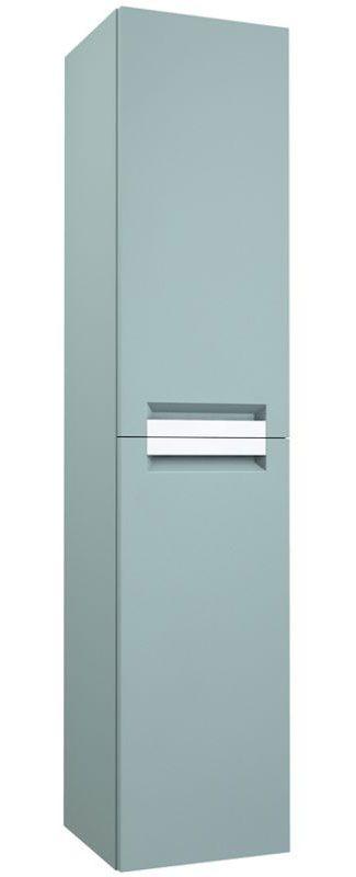 Badezimmer - Hochschrank Meerut 86, Farbe: Aquamarin – 160 x 35 x 36 cm (H x B x T)