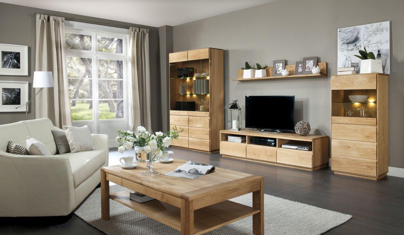Wohnzimmer Komplett - Set A Fazenda, 5 - teilig, teilmassiv, Farbe: Natur