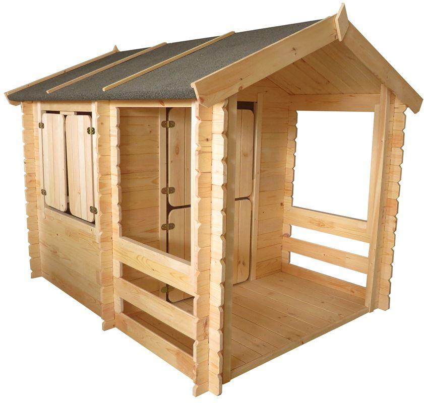Spielhaus Summer Park - 1,75 x 1,30 Meter aus 19mm Blockbohlen