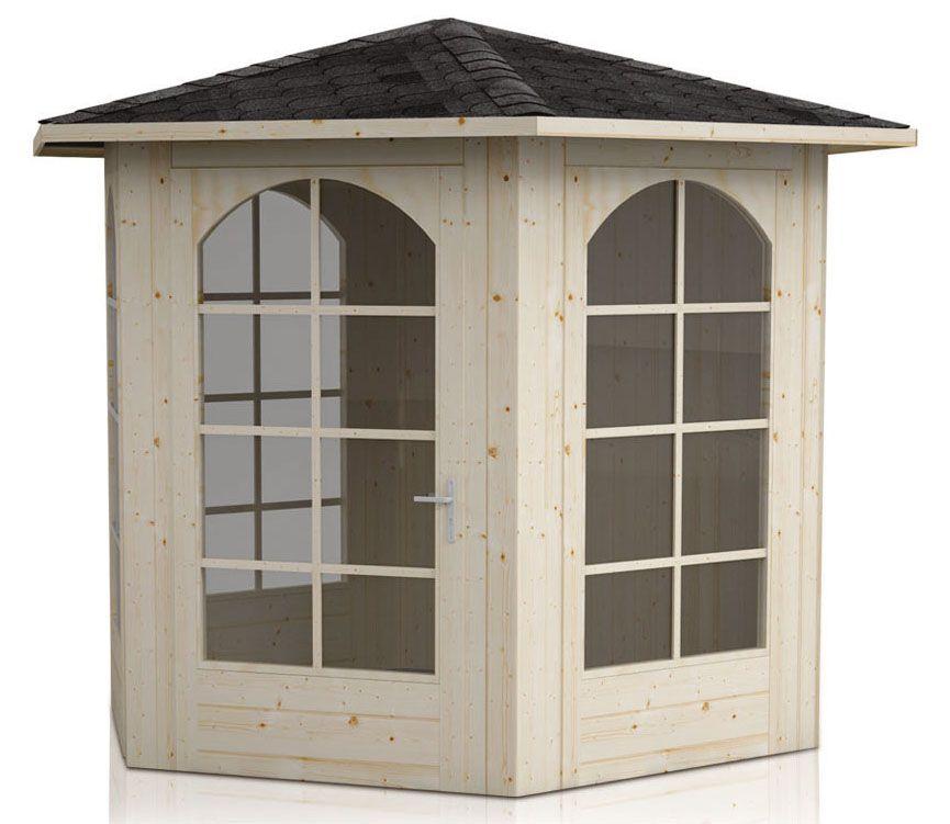 Pavillon Sonnenschein inkl. Fußboden - Lieferumfang: 7 x Glas und Fußboden