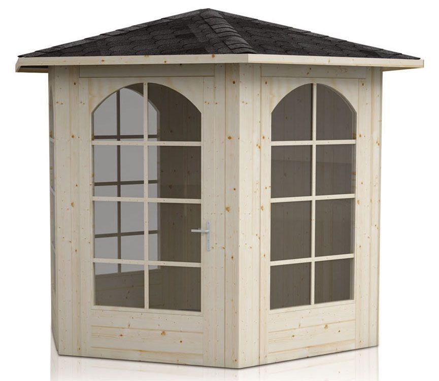 Pavillon Sonnenschein inkl. Fußboden - Lieferumfang: 4 x Glas und Fußboden