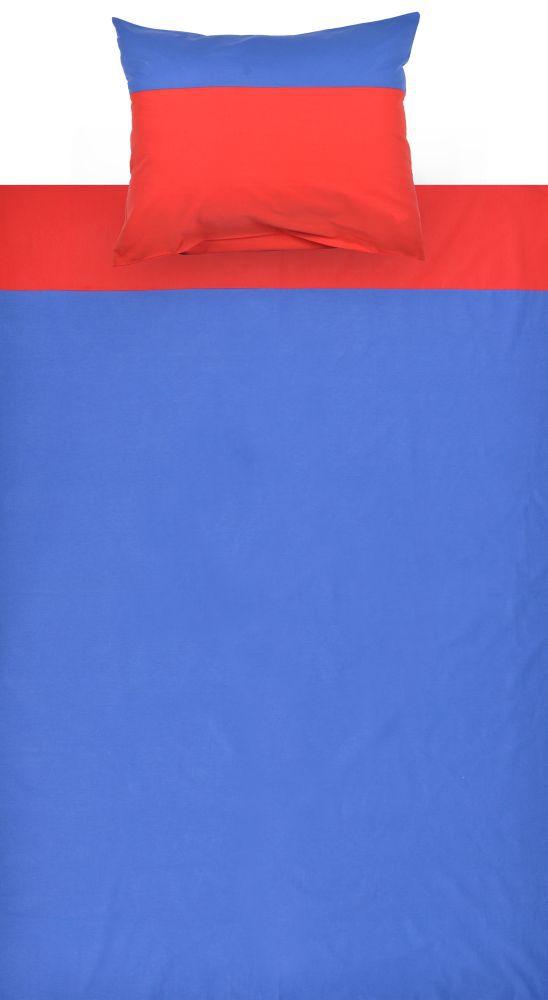 Kinder - Bettwäsche 2-teilig - Farbe:Blau/Rot