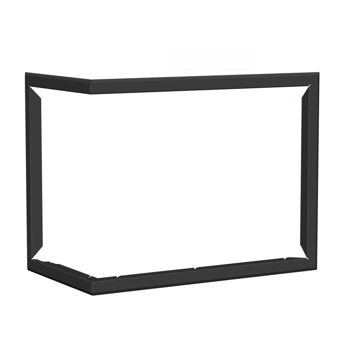 Blendrahmen für Kaminofen Tesko - Ausführung: Links - Farbe: Schwarz