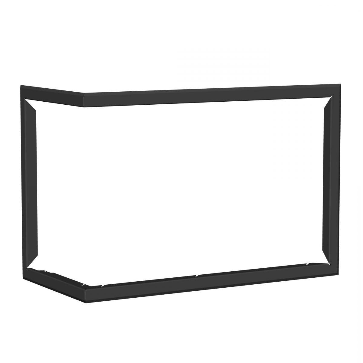 Blendrahmen für Kaminofen Avolis - Ausführung: Links - Farbe: Schwarz