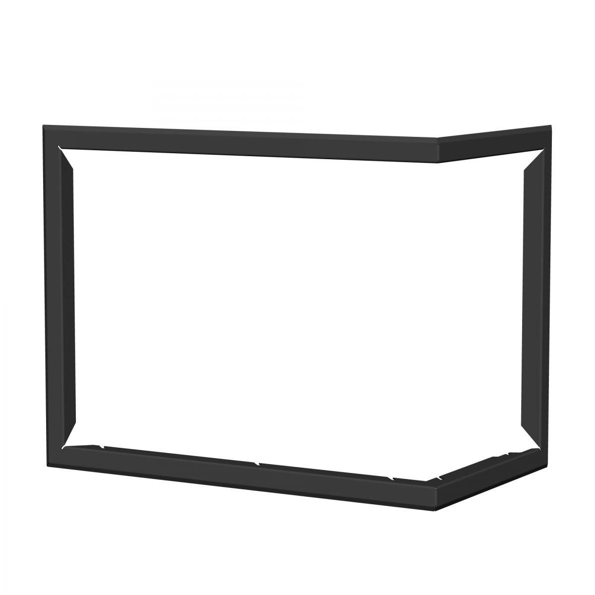 Blendrahmen für Kaminofen Tesko - Ausführung: Rechts - Farbe: Schwarz