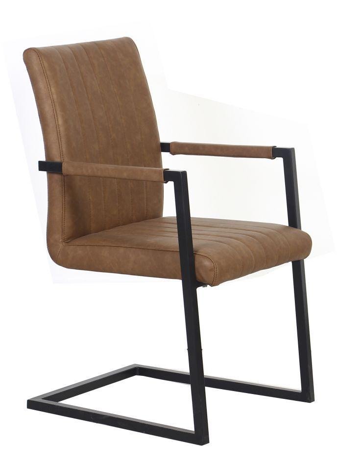 Stuhl Maridi 87, Farbe: Braun - Abmessungen: 93 x 51 x 56 cm (H x B x T)