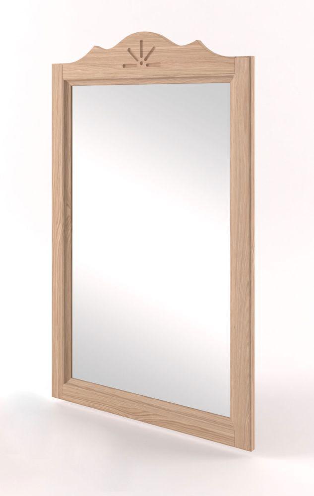 Spiegel Eiche Vollholz massiv natur Pirol 123 - Abmessung 96 x 56 cm