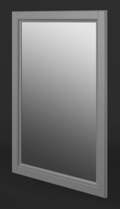 Spiegel Kiefer Vollholz massiv grau Lagopus 03 - Abmessungen: 96 x 56 cm (H x B)