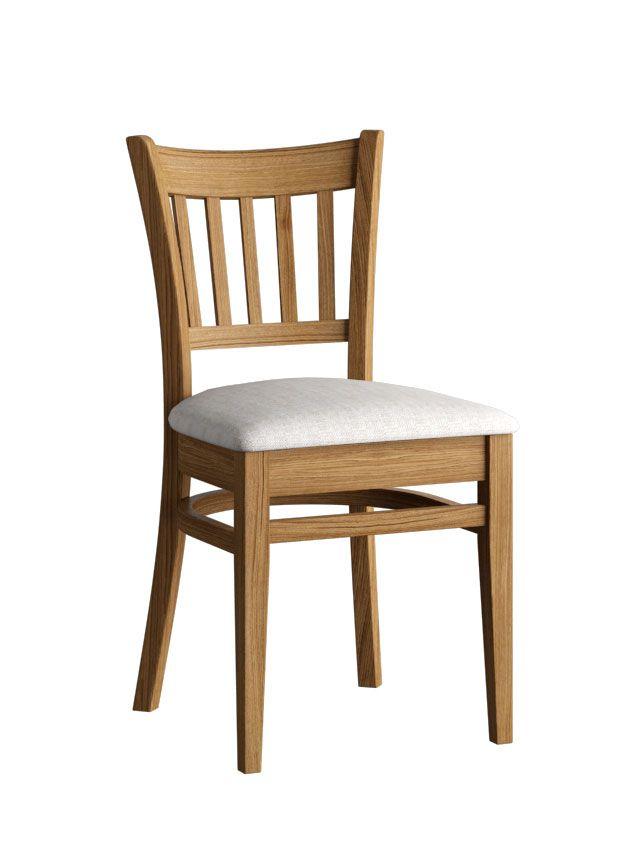 Stuhl Pirot 29, Farbe: Eiche geölt, massiv - Abmessungen: 46 x 85 x 45 cm (B x H x T)
