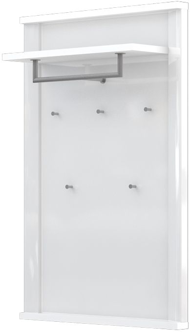 Garderobe Sili 03, Farbe: Weiß - Abmessungen: 121 x 80 x 29 cm (H x B x T)