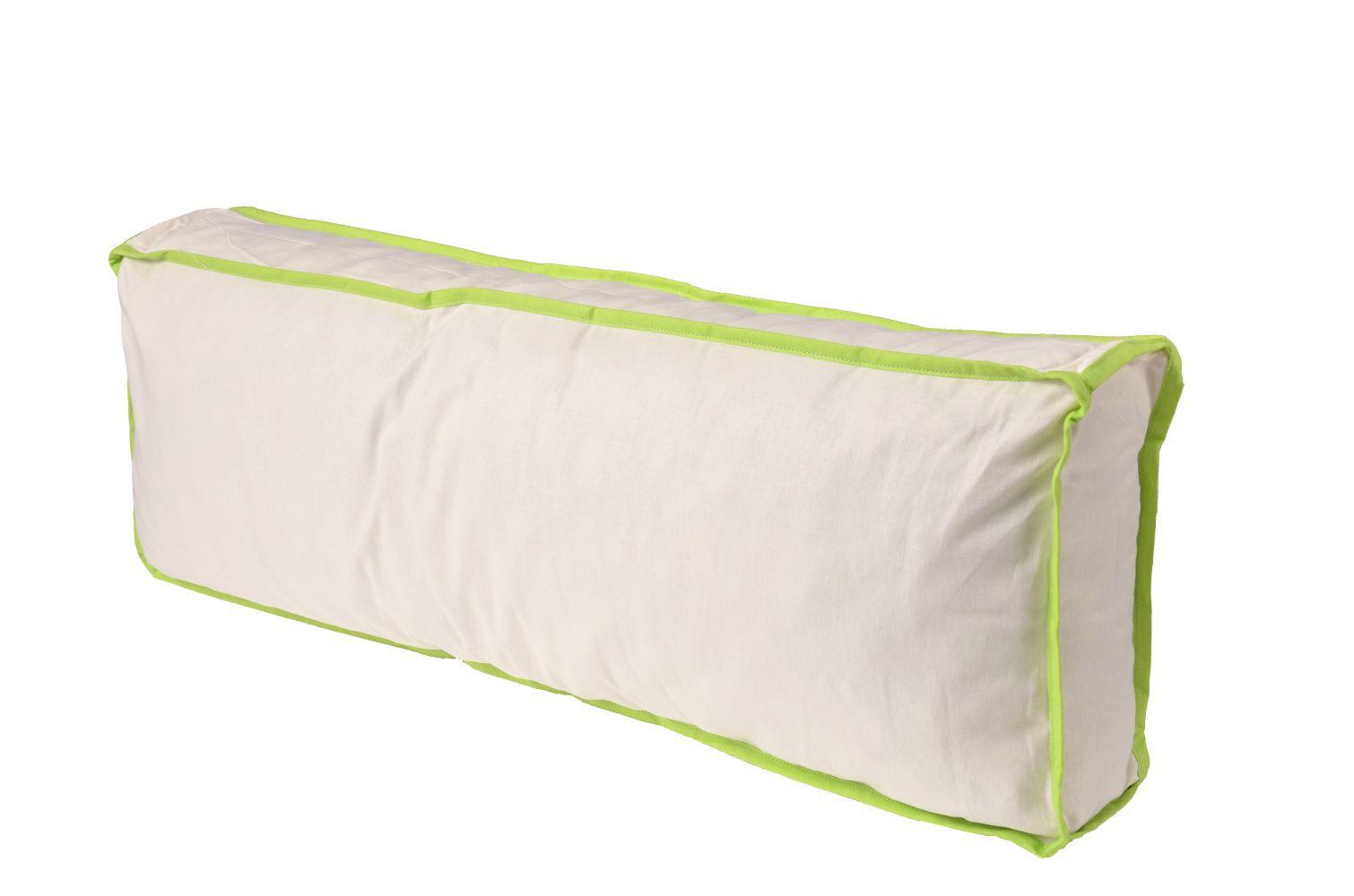 Seitenkissen - Farbe:Grün/Beige