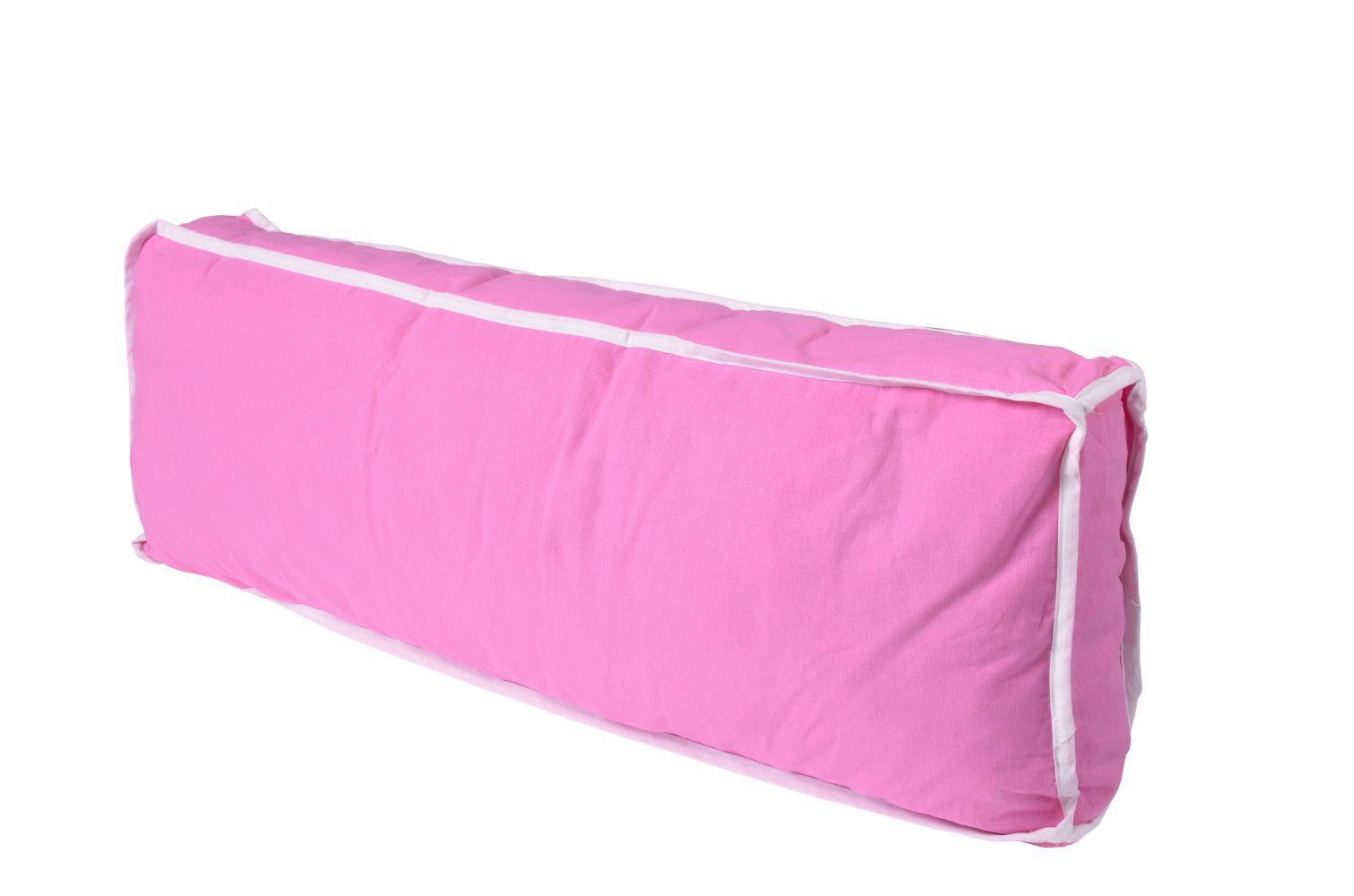 Seitenkissen - Farbe:Rosa/Weiß