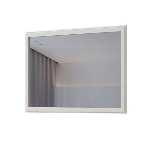 Spiegel Falefa 11, Farbe: Weiß - 75 x 125 x 4 cm (H x B x T)