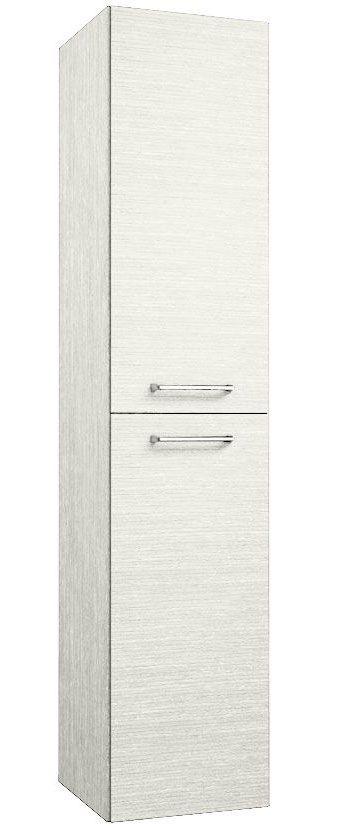 Badezimmer - Hochschrank Salem 40, Farbe: Eiche Weiß – 160 x 35 x 35 cm (H x B x T)