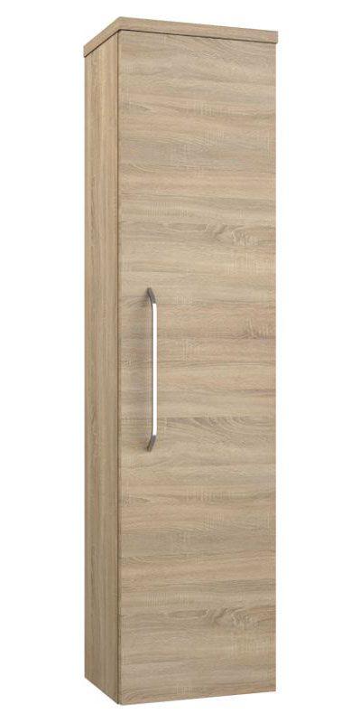 Badezimmer - Hochschrank Barasat 83, Farbe: Eiche – 140 x 36 x 25 cm (H x B x T)