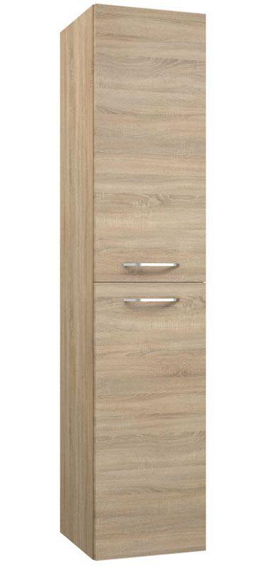 Badezimmer - Hochschrank Barasat 86, Farbe: Eiche – 160 x 35 x 35 cm (H x B x T)