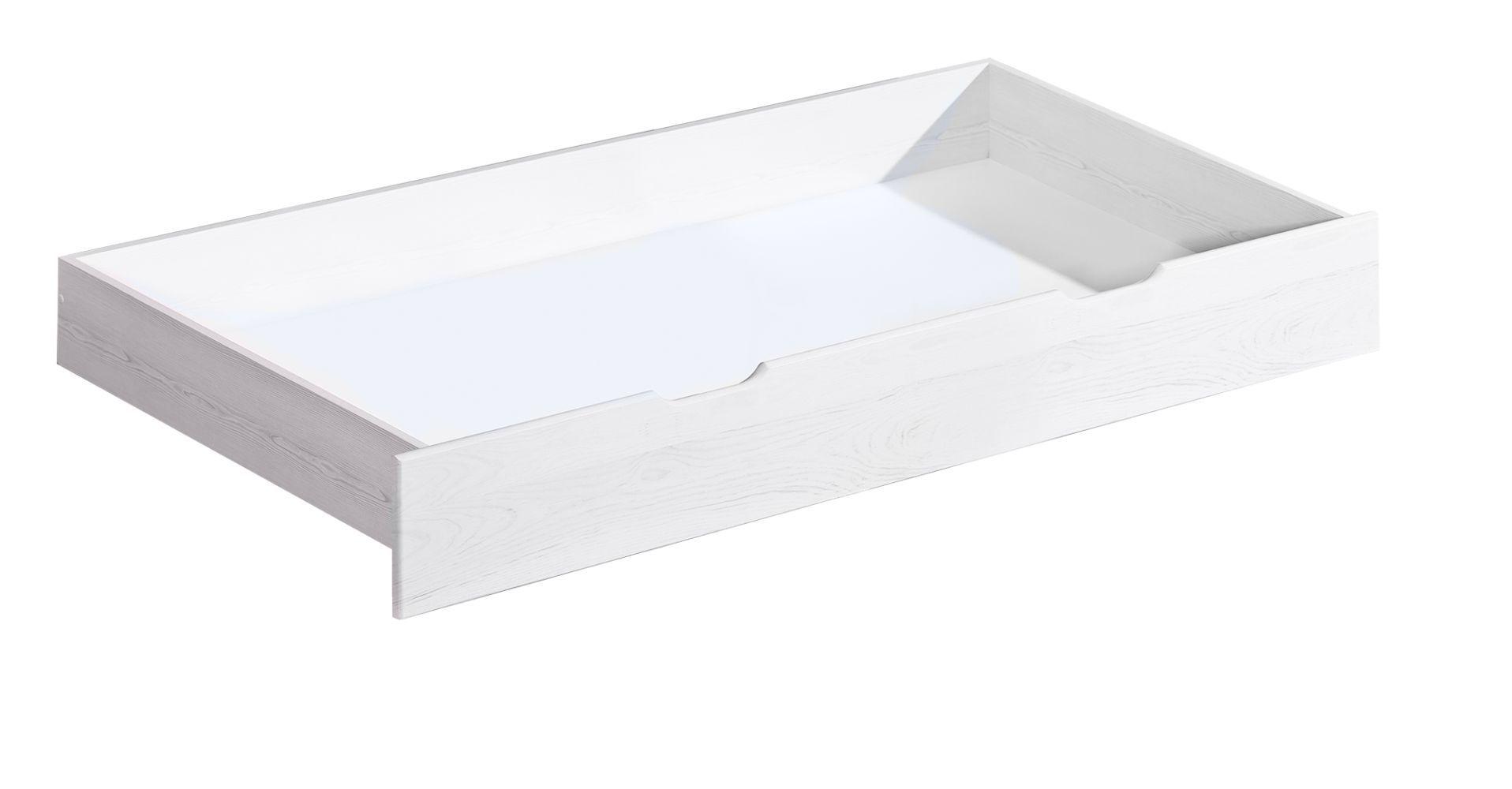 Schublade für Bett Gurami, Farbe: Weiß, massiv - 20 x 75 x 150 cm (H x B x L)