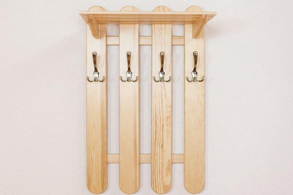 Garderobe Kiefer massiv Vollholz natur Junco 353 – Abmessungen: 80 x 50 x 29 cm (H x B x T)