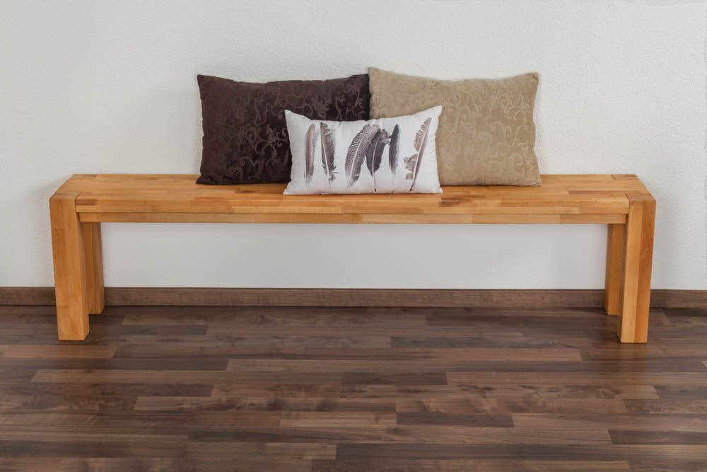 Bank Wooden Nature 133 Kernbuche massiv - 180 x 33 cm (L x B)