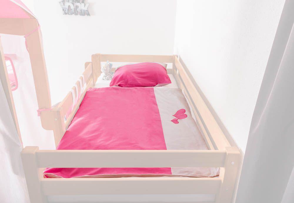 Motiv - Kinder - Bettwäsche 2-teilig - Farbe: Herz