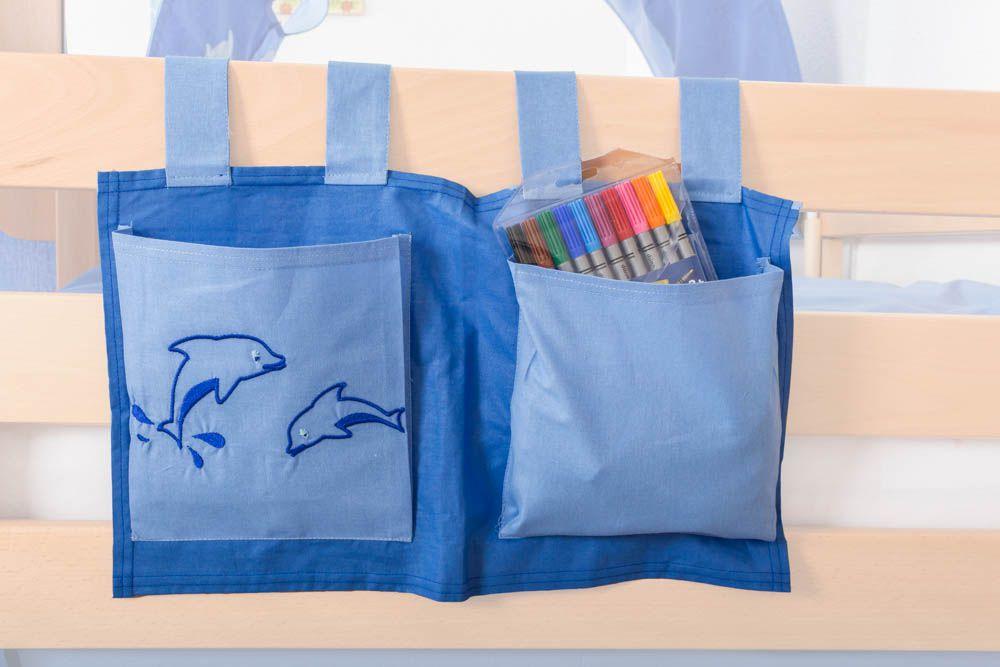 Motiv - Stofftasche - Farbe: Delphin