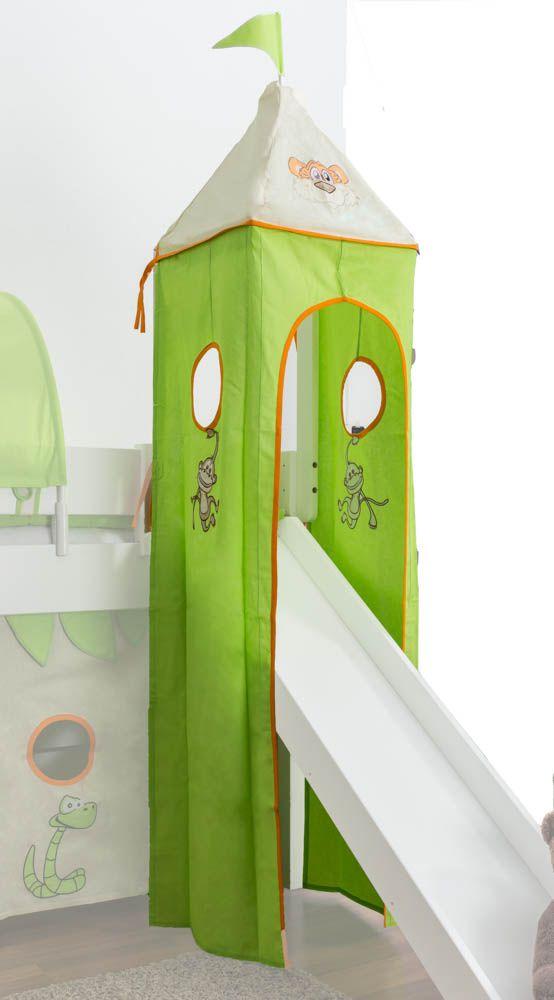 Motiv - Turm Stoff-Set - Farbe: Dschungel