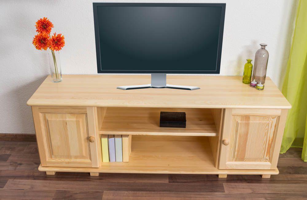 TV-Unterschrank Kiefer Vollholz massiv natur 001 - Abmessung 55 x 156 x 47 cm  (H x B x T)