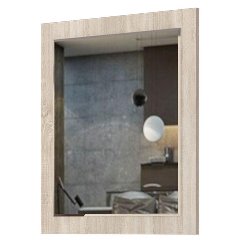 Spiegel Faleu 05, Farbe: Eiche - Abmessungen: 73 x 79 x 2 cm (H x B x T)