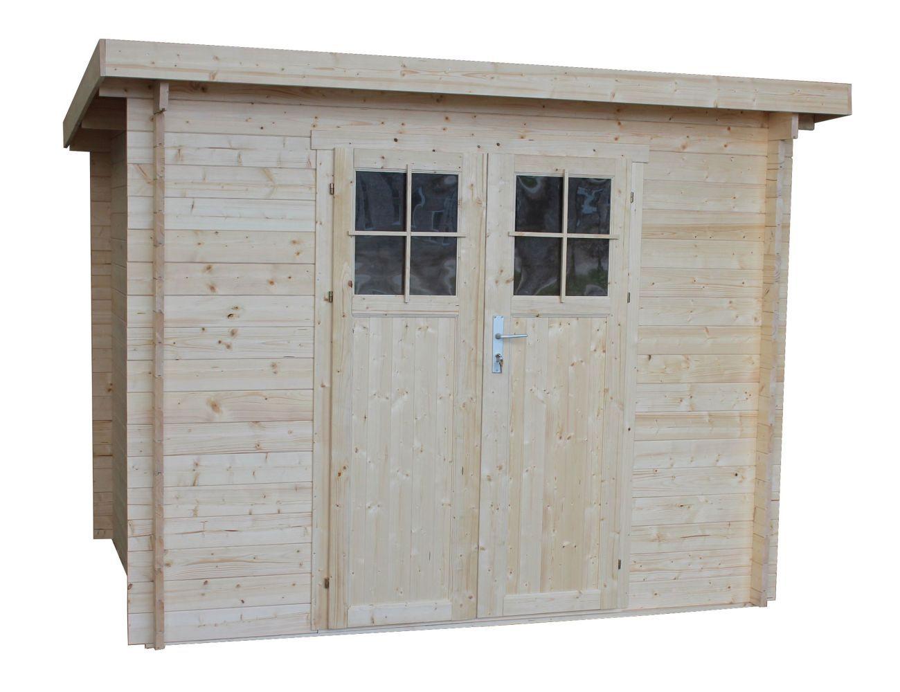 Gartenhaus Tulln - 2,60 x 2,00 Meter aus 28 mm Blockbohlen
