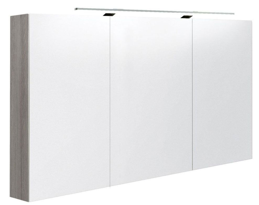 Badezimmer - Spiegelschrank Varanasi 28, Farbe: Esche Grau – 70 x 120 x 13 cm (H x B x T)