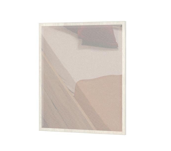 Spiegel Lepa 23, Farbe: Kiefer Weiß - Abmessungen: 87 x 79 x 2 cm (H x B x T)
