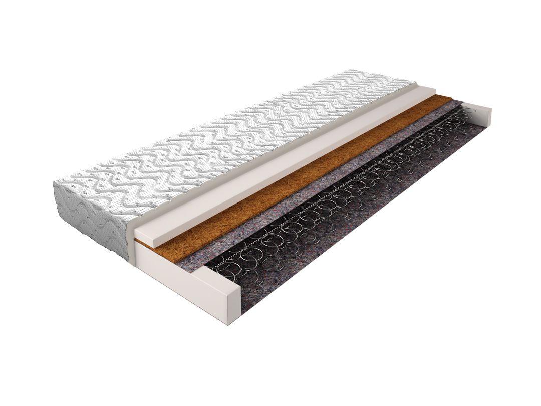 Matratze mit Bonellfederkern 013 - Größe: 90 x 200 cm, Höhe: 14 cm