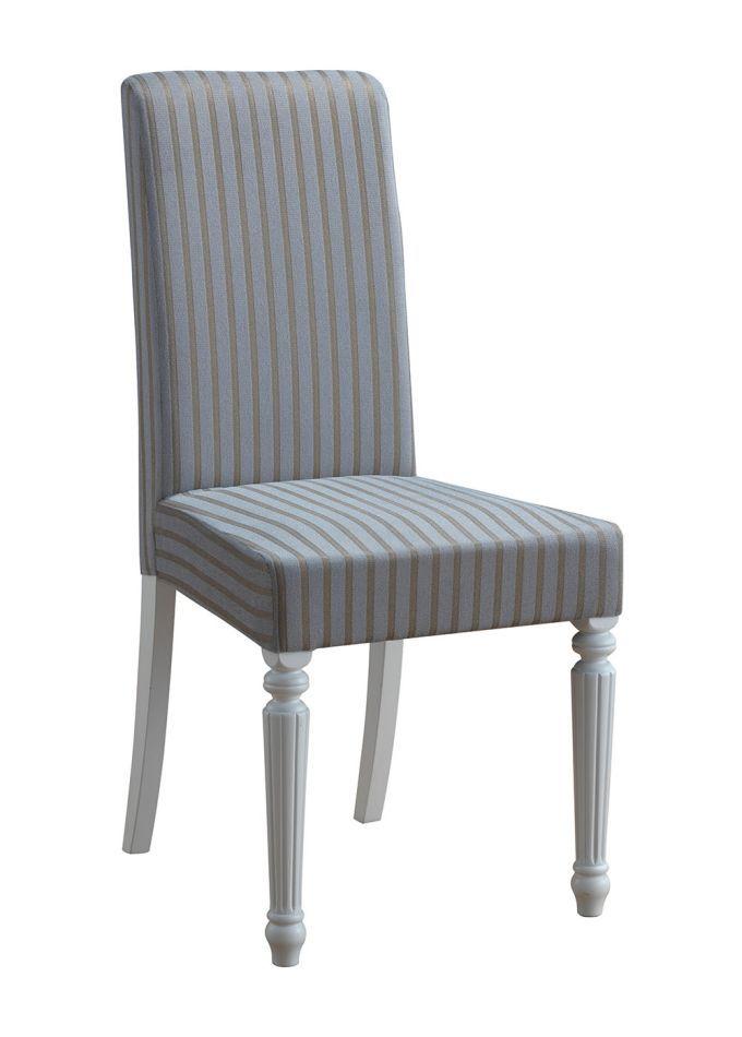 Stuhl Maridi 117, Farbe: Grau / Weiß, teilmassiv - Abmessungen: 97 x 45 x 56 cm (H x B x T)
