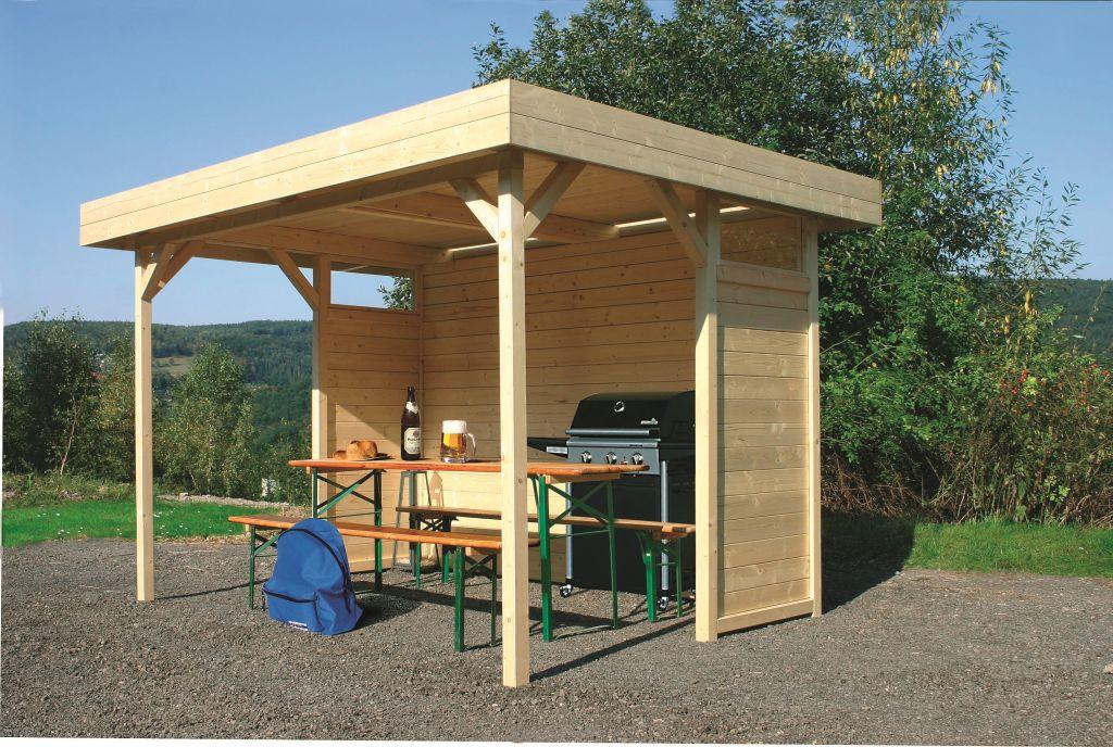 Pavillon Hedera S710 - 70 x 70 mm Pfostenstärke, Grundfläche: 6 m², Flachdach