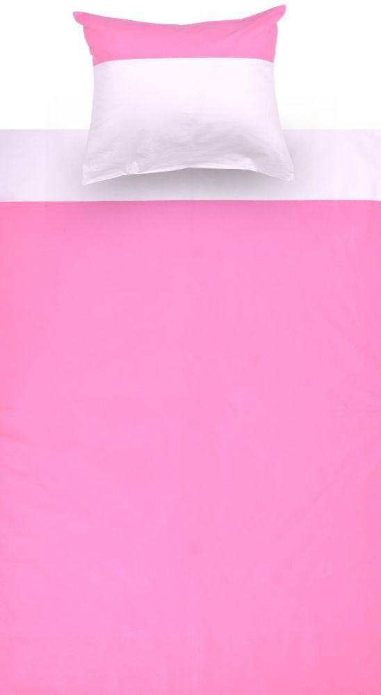 Kinder - Bettwäsche 2-teilig - Farbe:Rosa/Weiß
