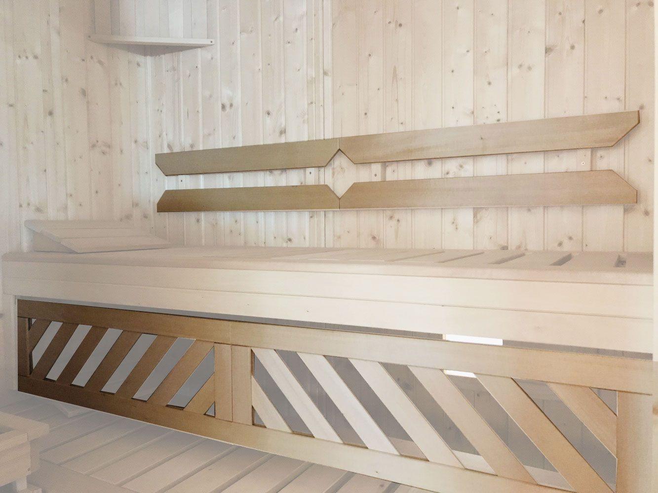 Rückenlehnen-Set zu Elementsauna Tirari 1815