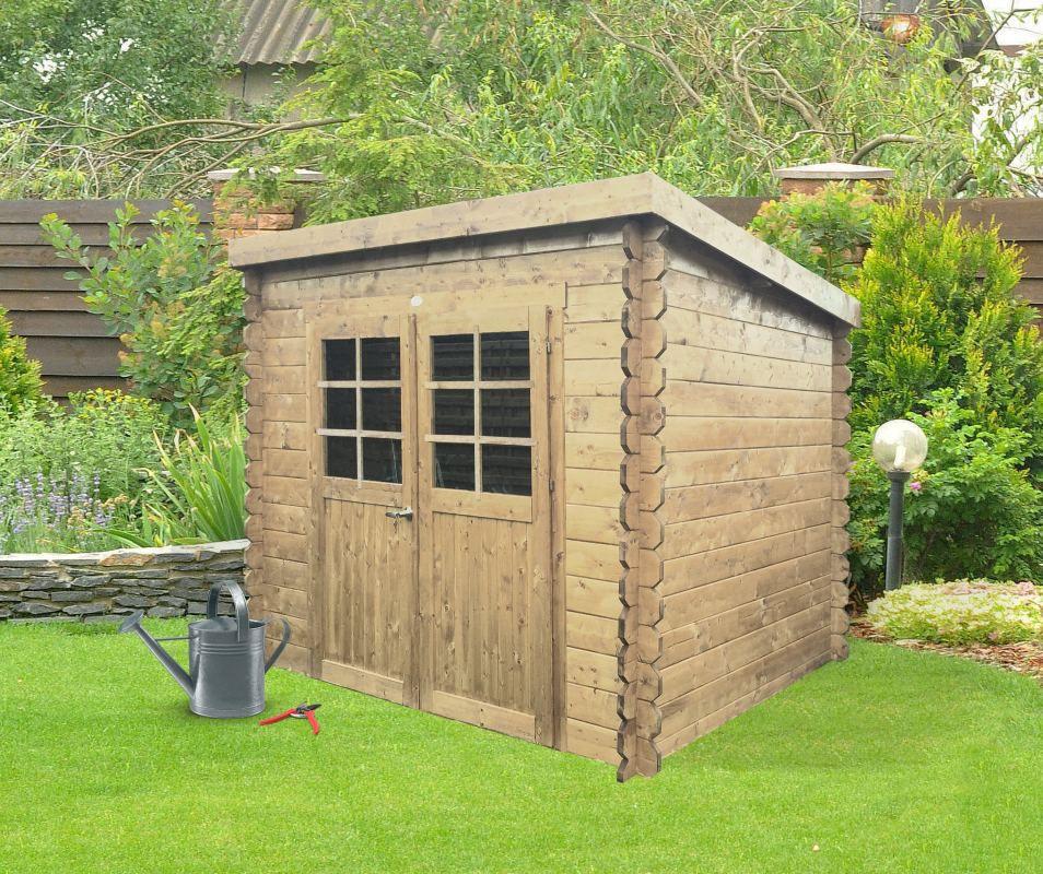 Gartenhaus Pirum S8605 - 19 mm Blockbohlenhaus, Grundfläche: 4,91 m², Pultdach