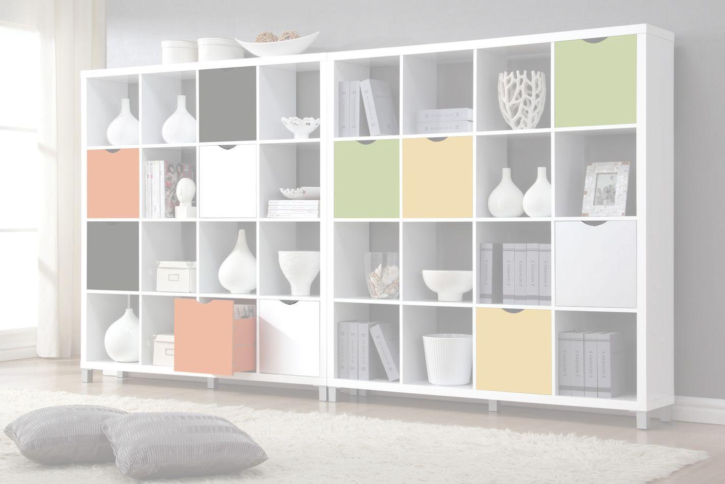 Schublade für Regal Salima, Farbe: Weiß - Abmessungen: 33 x 33 x 29 cm (H x B x T)