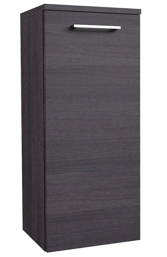 Badezimmer - Seitenschrank Rajkot 93, Farbe: Eiche Schwarz – 80 x 35 x 28 cm (H x B x T)