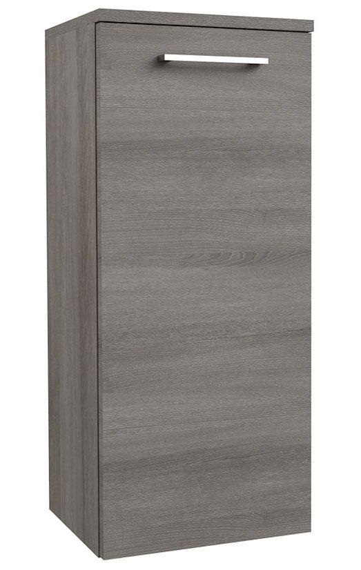 Badezimmer - Seitenschrank Rajkot 97, Farbe: Esche Grau – 80 x 35 x 28 cm (H x B x T)