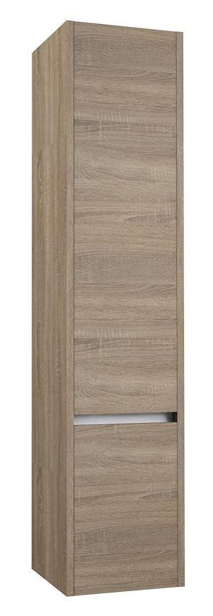 Badezimmer - Hochschrank Kolkata 83, Farbe: Eiche grau – 160 x 35 x 35 cm (H x B x T)