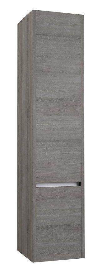 Badezimmer - Hochschrank Kolkata 84, Farbe: Esche grau – 160 x 35 x 35 cm (H x B x T)