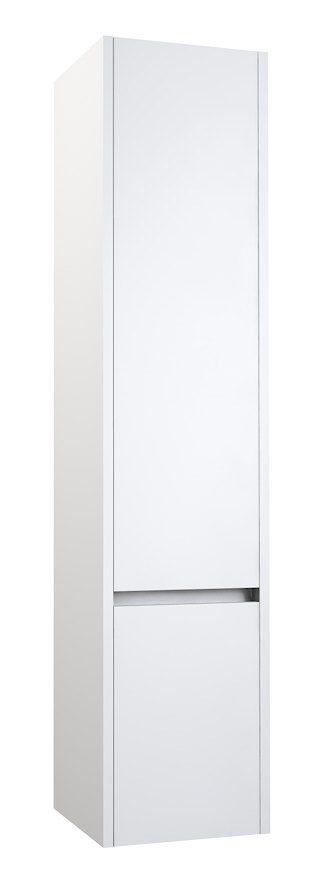 Badezimmer - Hochschrank Kolkata 85, Farbe: Weiß glänzend – 160 x 35 x 35 cm (H x B x T)