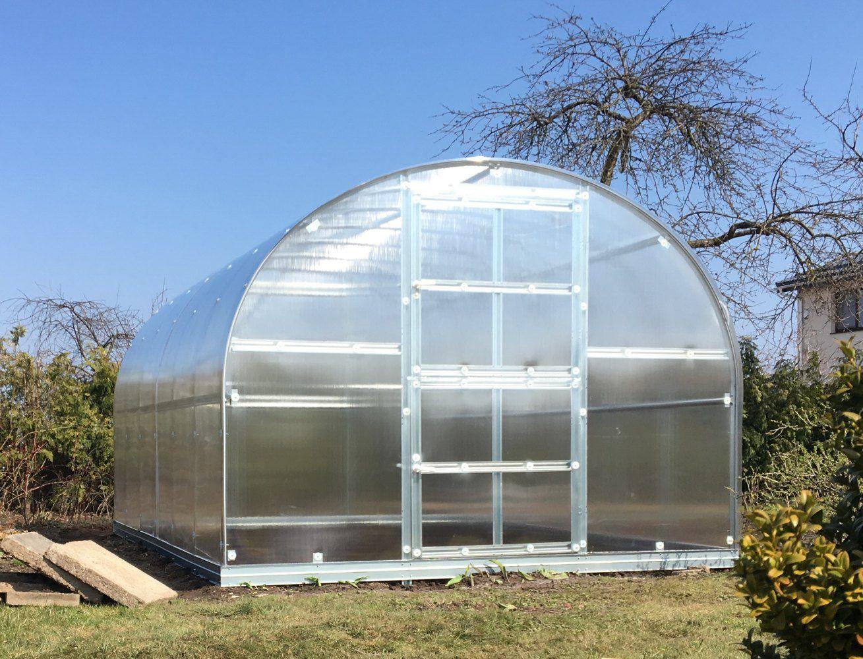 Gewächshaus 20 HKP 4 mm, Grundfläche 30 m²- Abmessungen: 1000 x 300 cm (L x B)