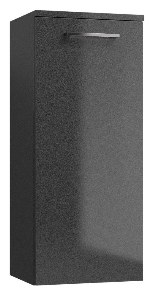 Badezimmer - Seitenschrank Rajkot 92, Farbe: Anthrazit glänzend – 80 x 35 x 28 cm (H x B x T)